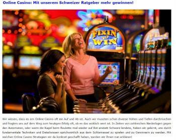 Online-Casino-Ratgeber.ch Screenshot